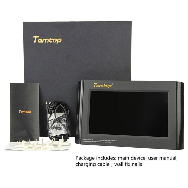 Temtop P1000 Air Quality Detector Professional CO2/PM2.5/PM10 Temperature & Humidity Monitor Air Quality Meter - Temtop US