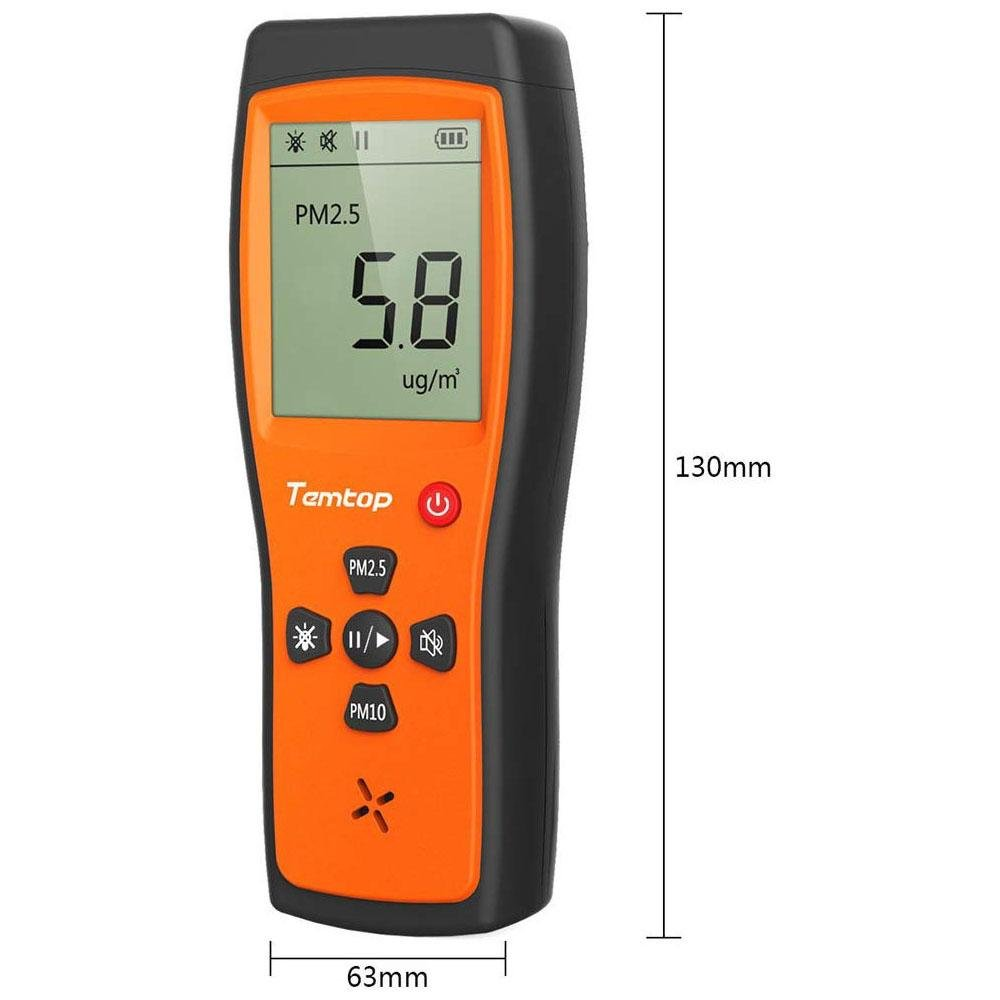 Temtop P200 Air Quality Detector Real Time Display High Accuracy PM2.5/PM10 Monitor - Temtop