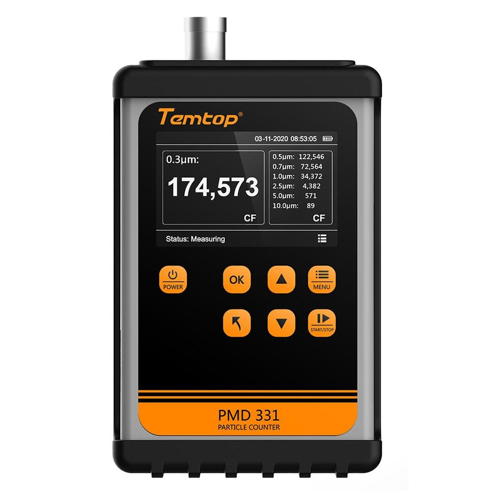 Temtop PMD 331 Air Quality Handheld Particle Counter 7 Channels - Temtop