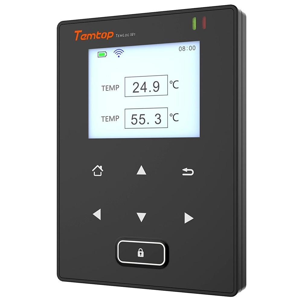 Temtop TemLog W1 Intelligent Wifi Temperature Data Logger Double Temperature Sensors Free Cloud Platform & Cell Phone Application - Temtop US