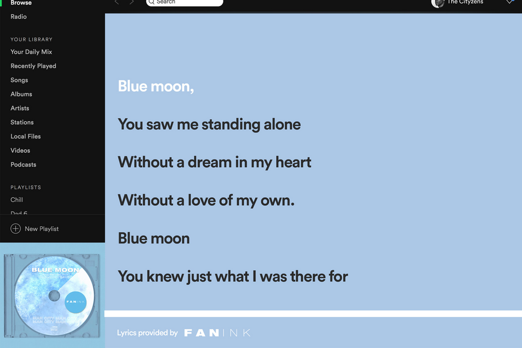 "Origin Story of ""Blue Moon"" Anthem"