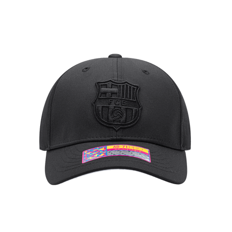 All Black FC Barcelona Dusk Adjustable Hat