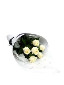 White Rose Bouquet - Brooklyn Flowers