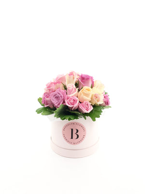 Rose Posy, Assorted Coloured Rose Posy, Roses, Posy, Box, Brooklyn,