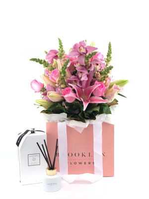 Bouquet Bag and Gift Package, Bouquet Bag & Diffuser, Pretty, Bouquet, Brooklyn Flowers, Auckland Florist