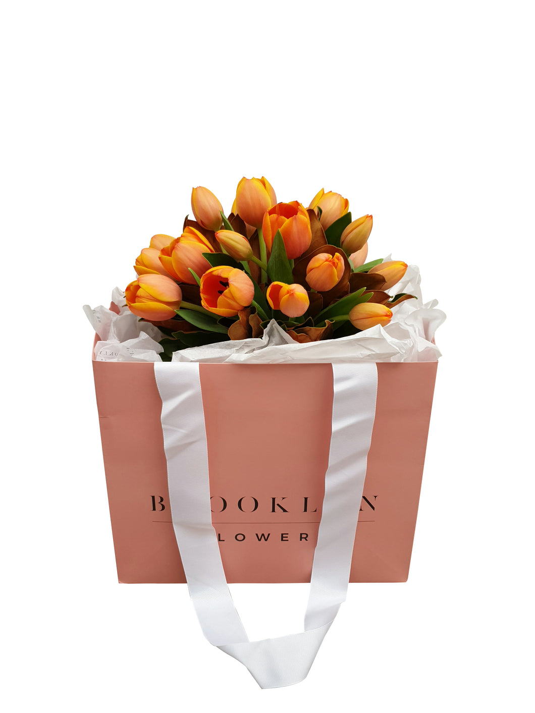 Tulip Posy Bag (+ vase) - Brooklyn Flowers