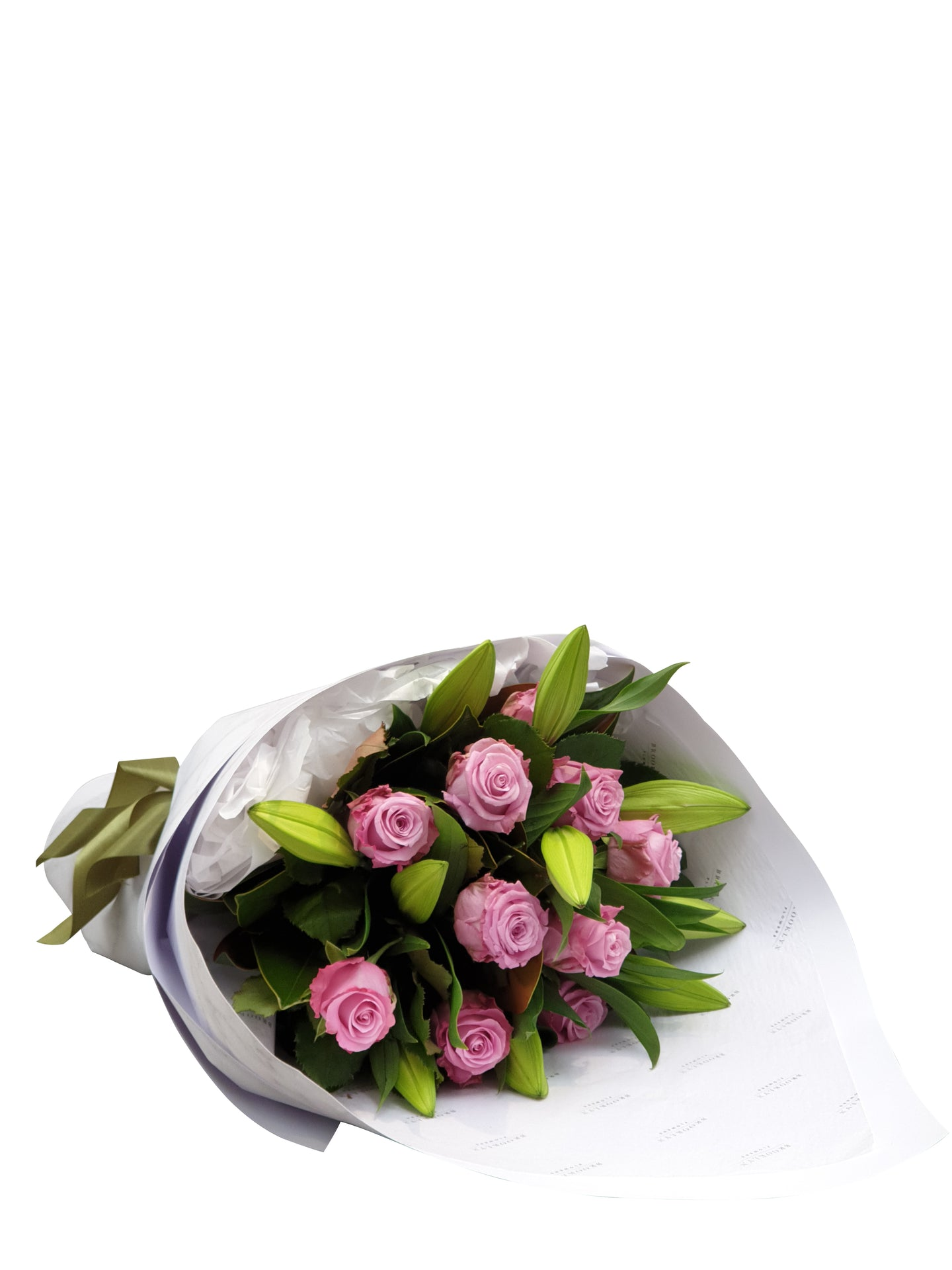 Bright Lily & Rose Bouquet - Brooklyn Flowers