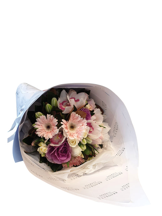 Wrapped Pastel Posy - Brooklyn Flowers