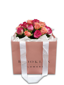 Pink Rose Posy (+ Free Vase) - Brooklyn Flowers