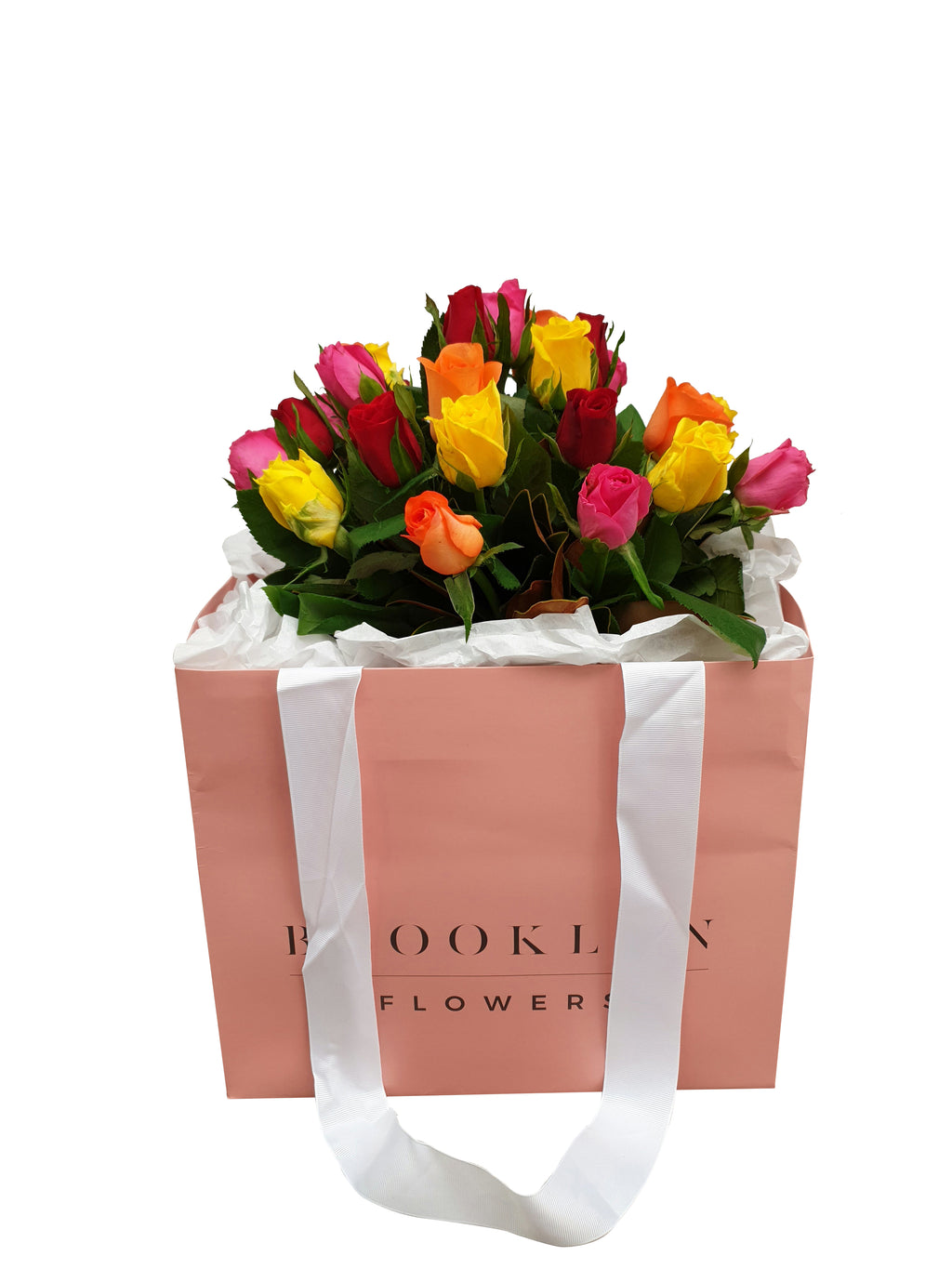 Bright Rose Posy (+ Free Vase)