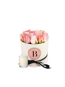 The Brooklyn Rose Box & Candle Gift Package - Brooklyn Flowers