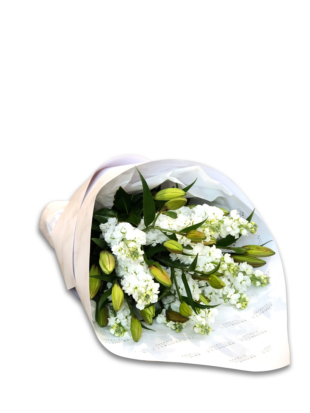 White Lily & Stock Bouquet