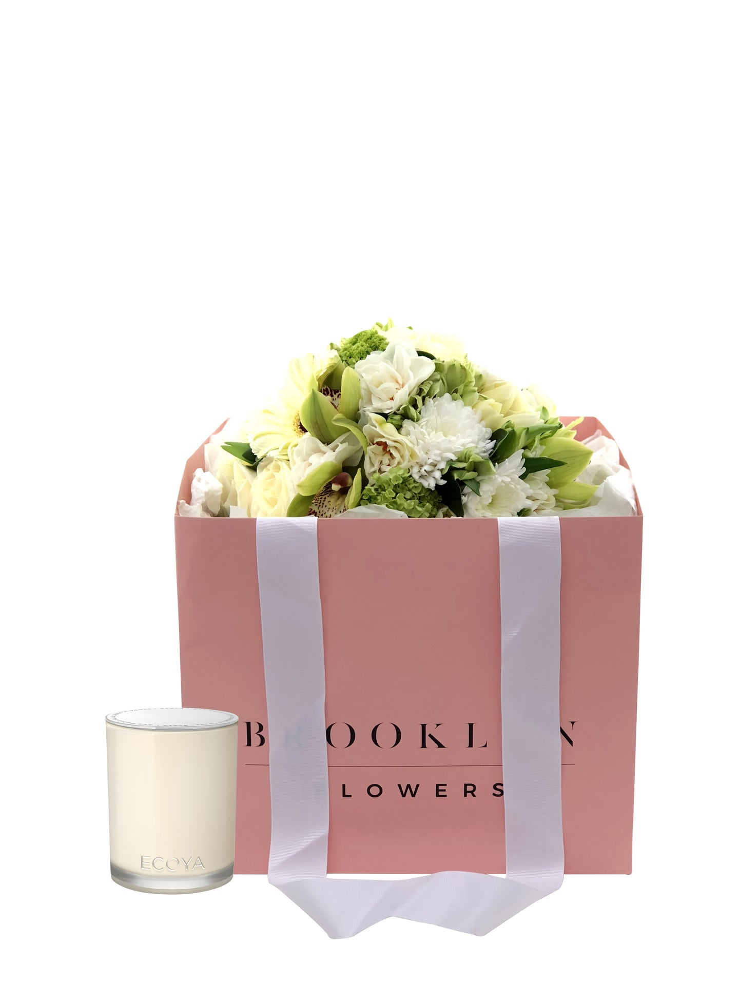 Posy Bag & Ecoya Candle Gift Package & FREE vase - Brooklyn Flowers