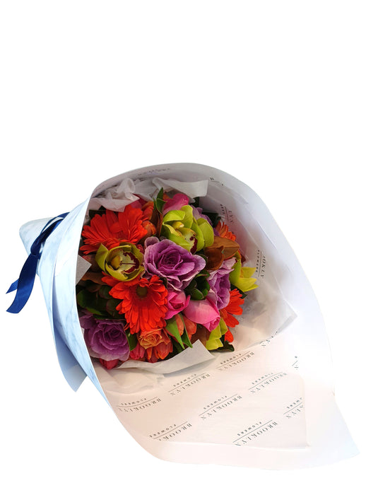 Wrapped Cheerful Posy - Brooklyn Flowers