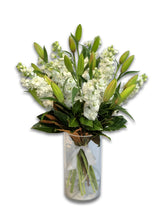 Load image into Gallery viewer, White Lily & Stock Bouquet