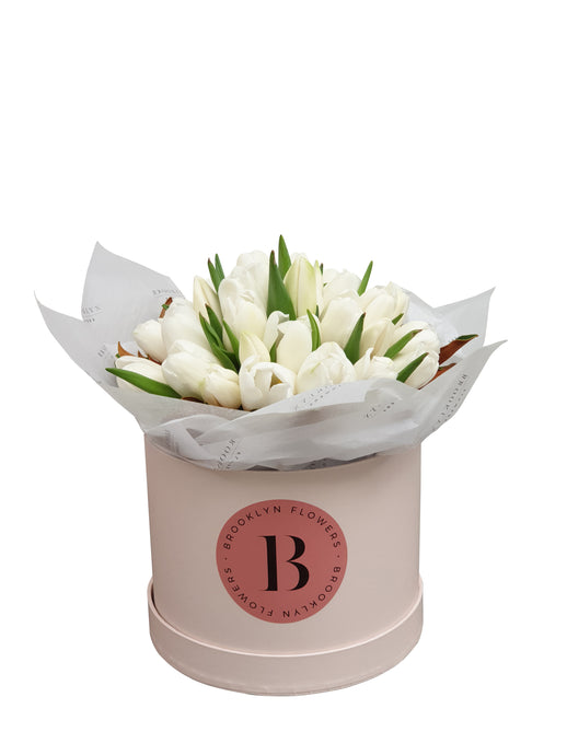 Lux Tulip Brooklyn Box - Brooklyn Flowers