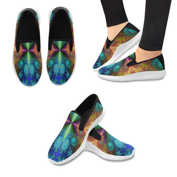 Orion Slip-on Canvas Women's Fractal Sneaker (Model042)