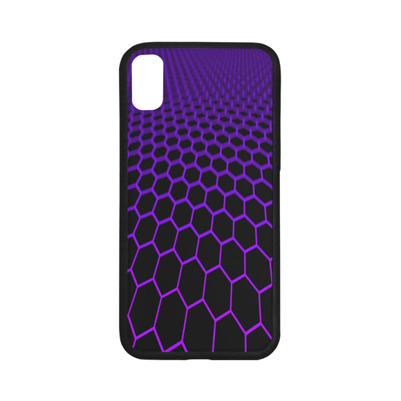FOX PRODUCTS- iPhone X (with Hard Plastic Back) Rubber Case, Hexa-phone