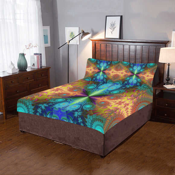 3-piece Bedding Set Fractal