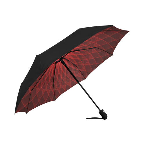 Anti-UV Automatic Mandala Red Umbrella (Underside Printing)