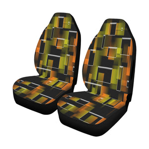 Car Seat Cover 3D Boxes Airbag Compatible (Set of 2)