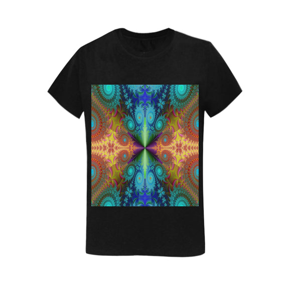 Gildan Women's Heavy Cotton Short Sleeve Fractal T-Shirt - 5000L (Made In USA)