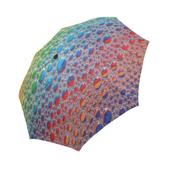 Automatic Foldable Rainbow Drops Umbrella