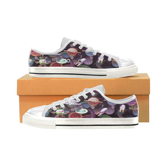 Women's Canvas Alien Planet Shoes (Model 018) (Made In USA)