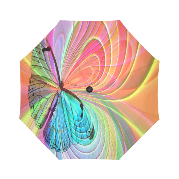 Automatic Foldable Multi-color Butterfly Swirl Umbrella