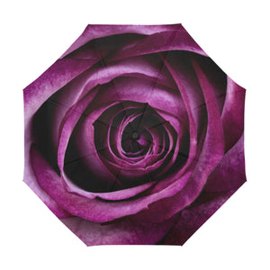 Anti-UV Automatic Violet Rose Umbrella (Model U09)
