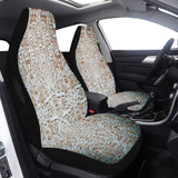 Car Seat Cover Baby Blue Stucco Airbag Compatible (Set of 2)