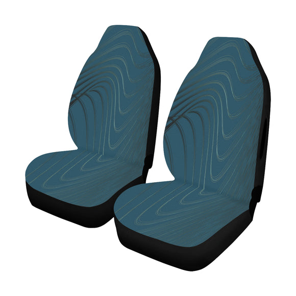 Car Seat Cover Blue Current Airbag Compatible (Set of 2)