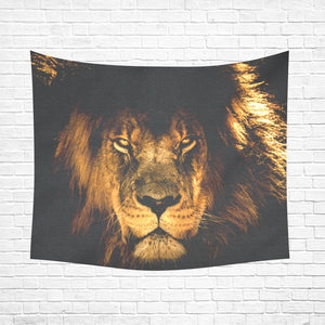 "Wall Tapestry African Lion 60""x 51"""