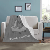"FOX PRODUCTS- Ultra-Soft Micro Fleece Blanket Just Chillin' 30""x40"""