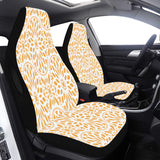 Car Seat Cover Orange Mandala Airbag Compatible (Set of 2)