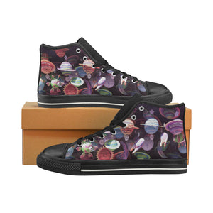 Women's High Top Alien Planet Shoes (Model 017) (Made in USA)