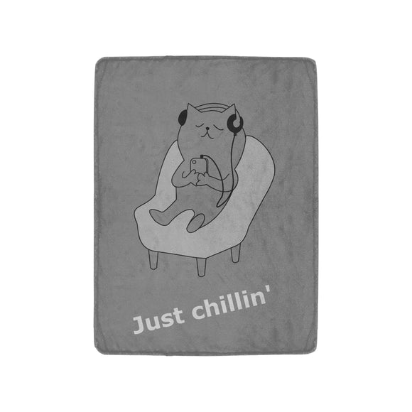 FOX PRODUCTS- Ultra-Soft Micro Fleece Blanket Just Chillin' 30