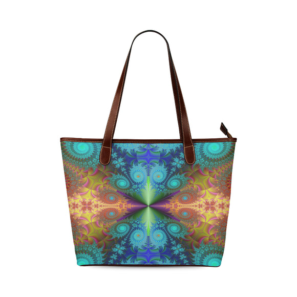 Shoulder Tote Fractal Bag (Model1646)