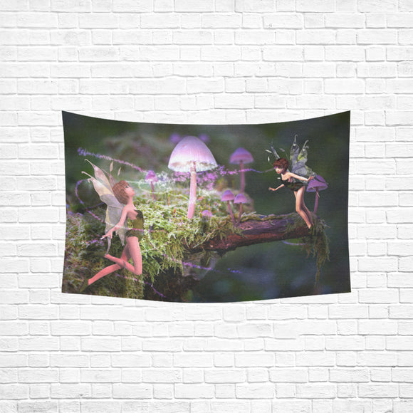 Wall Tapestry Magic Mushroom Fairies (60