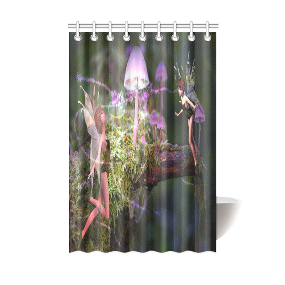 Shower Curtain Magic Mushroom Fairies 48