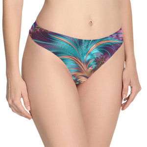 Underwear Women's Classic, Thong Fractal Feather (Model L5)
