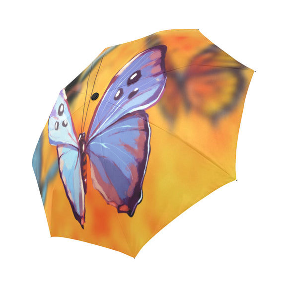 Anti-UV Butterfly Kaleidoscope Automatic Foldable Umbrella