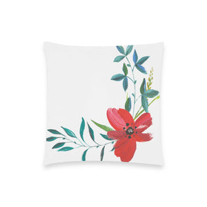 "FOX PRODUCTS- Throw Pillow Cover (18"" x 18"")  Flower Beauty"
