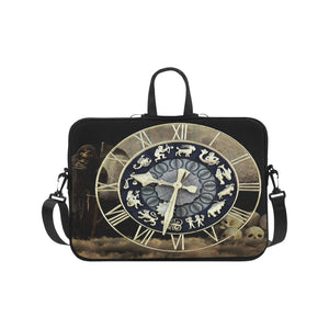 "Classic Sleeve for 17"" Laptop- Zodiac Clock"