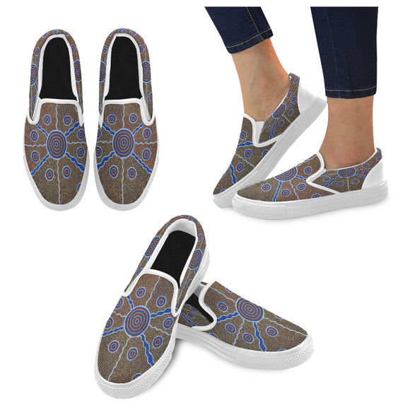 Slip-On Canvas Women's Aboriginal Shoes (Model 019)