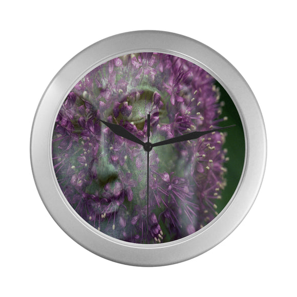 Wall Clock Buddha Flowers