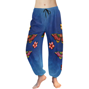 Harem Vintage Butterfly Women's Pants (Model L18)