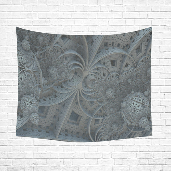 Wall Tapestry Grey Fractal 60
