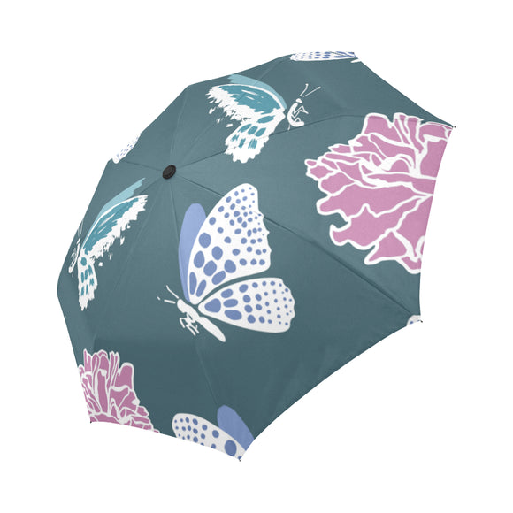 Automatic Foldable Butterfly Flowers Umbrella