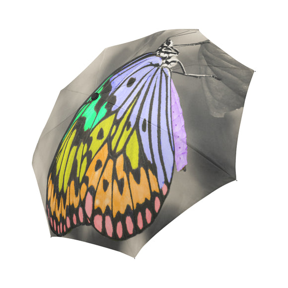 Anti-UV Color Gray Butterfly Automatic Umbrella